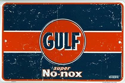 GULF Super No-nox - Embossed metal