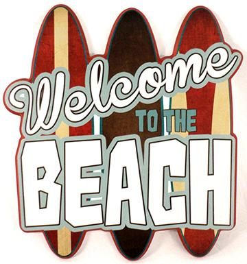 Welcome To The Beach  15'x16' Laminated sign