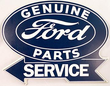 FORD PARTS & SERVICE ** SIGN laminated wood 18