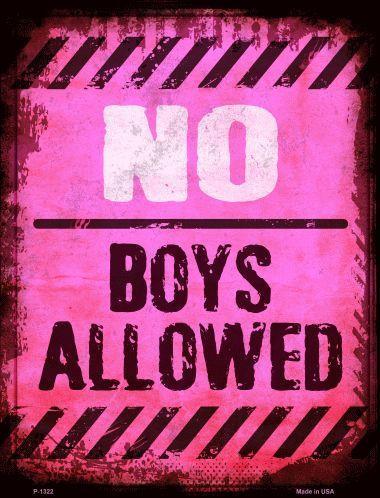 NO BOYS ALLOWED  --  9'X12'