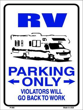 RV PARKING ONLY  --  9'X12'