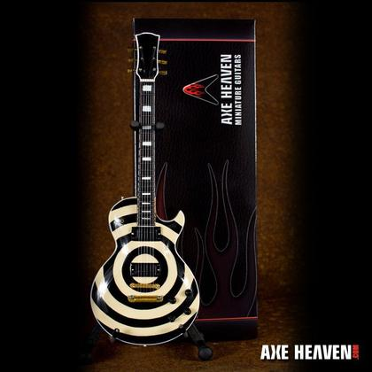 Zakk Wylde Signature Cream Bullseye Miniature Guitar Replica