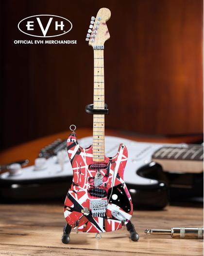 evh frankenstein eddie van halen mini guitar replica collectible officially licensed. Black Bedroom Furniture Sets. Home Design Ideas