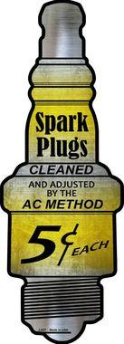 SPARK PLUGS 5 CENTS EACH  6'X17'