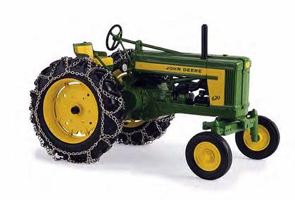 John Deere 620 with Chains