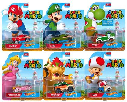 HOT WHEELS 1:64 SUPER MARIO Set