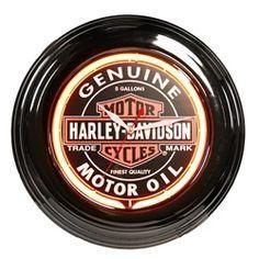 Item 14010  NEON CLOCK  ' 'Harley-Davidson'   Dia. 14,5'