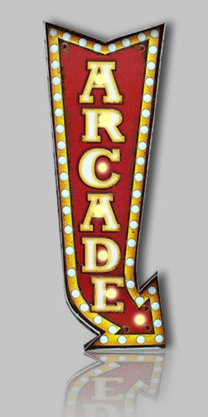 Illuminated sign (LED bulbs) - ARCADE  9.75' X 27'