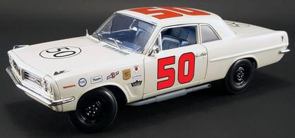1963 Pontiac Tempest #50 as driven by Paul Goldsmith at the 1963 Daytona Cup Challenge *AUTOGRAPHIED*