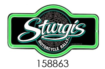 STURGIS ** 17  SIGN WITH NEON LED ROPE