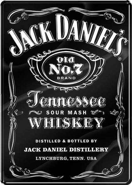 Jack Daniels Label embossed 18.5