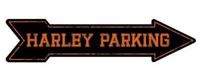 HD Embossed Arrow Pub Sign HARLEY PARKING24