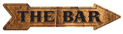 The Bar - Embossed Arrow Sign  24