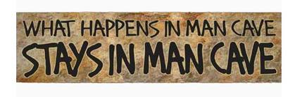 Metal Sign - Blvd - What Happens IN MAN CAVE  5.5'X24'
