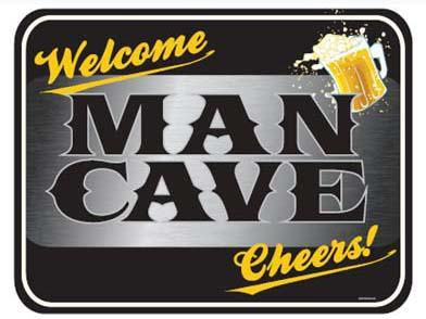 WELCOME MAN CAVE 17' X 13'