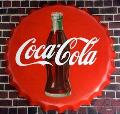 Bottle Cap Sign - Coke  16' dia.