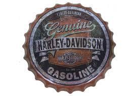 Bottle Cap Small Sign - Harley -Davidson- Genuine Gasoline