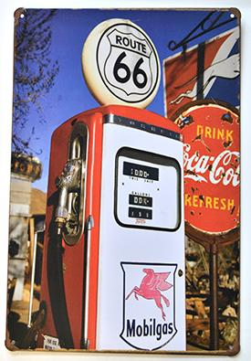 Fuel pump ROUTE 66- metal sign 8