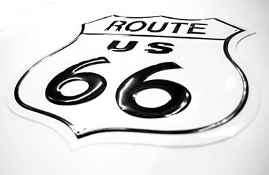 Route Us 66 EMBOSSED # E679