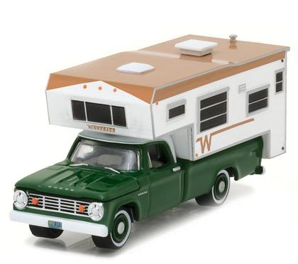 Dodge D-100 1967 Winnebago w/ Slide-In Camper