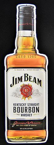 Jim Beam Bottle sign