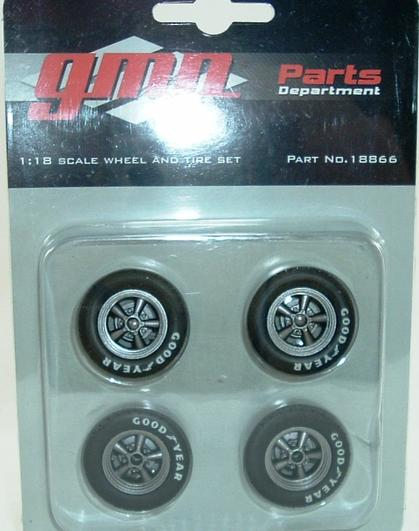 Set of 4 Black 5 Spoke Mag Wheels/Tires