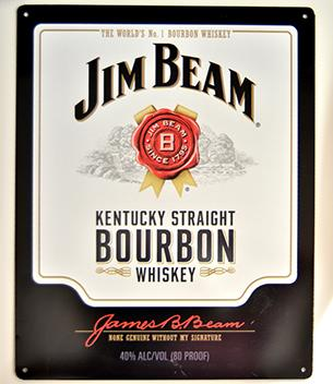 Metal sign Jim Beam