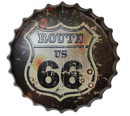BOTTLE CAP ROUTE 66 ** 16'Dia.