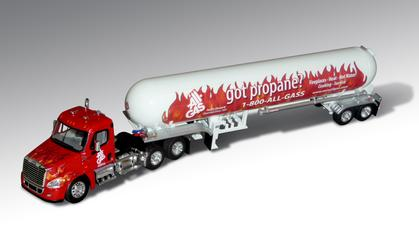 All-Gas Freightliner Cascadia  w/ Propane Tanker
