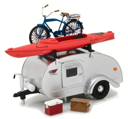 Ken-Skill Kustom Kamper Teardrop Travel Trailer and Accessories