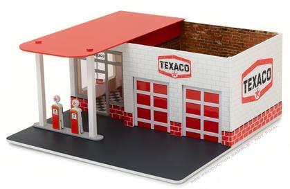 Texaco Oil Vintage Gas Station Diorama