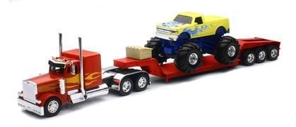 Peterbilt Lowboy with Monster Truck