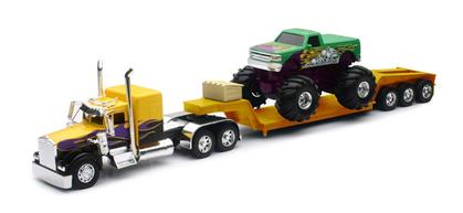 Custom Kenworth Lowboy with Monster Truck