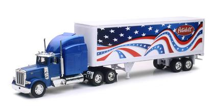 Peterbilt 379 with Patriotic Graphics