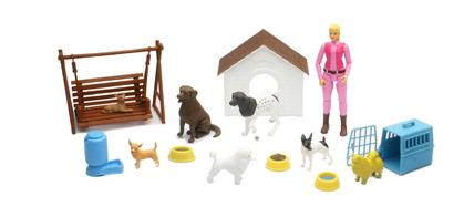Dog, accessories and articulated figure