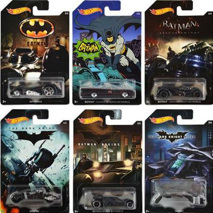 Set Hot Wheels Batmobile (6)