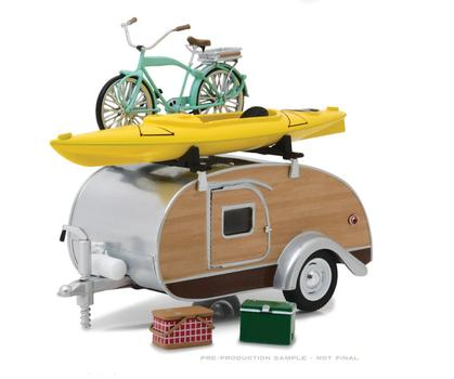 Teardrop Travel Trailer with Roof Rack and Accessories