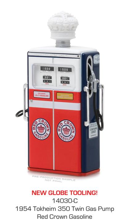 Red Crown Gasoline - 1954 Tokheim 350 Twin Gas Pump