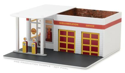 Shell Oil Vintage Gas Station Diorama - Mechanic's Corner Series 2