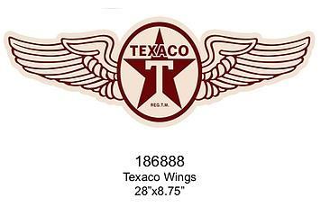 Embossed Sign Texaco