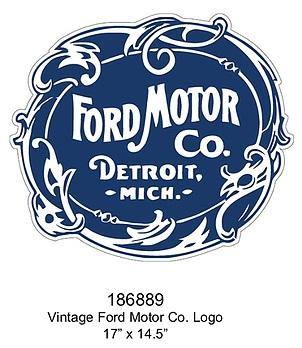 Embossed Sign Ford