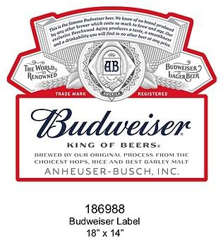 Embossed Sign Budweiser