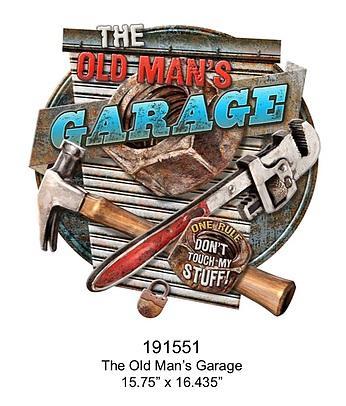 Embossed Sign Old Man's Garage