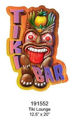 Embossed Sign Tiki Bar