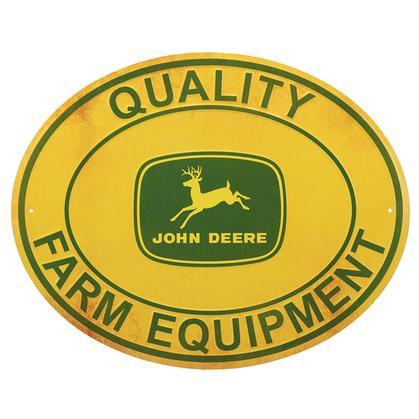 John Deere Quality Sign Embossed (20