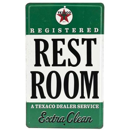 TEXACO REST ROOM EMBOSSED TIN SIGN (6