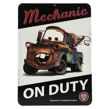 TOW MATER MECHANIC EMBOSSED TIN SIGN (10