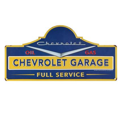 CHEVROLET GARAGE EMBOSSED TIN SIGN (18