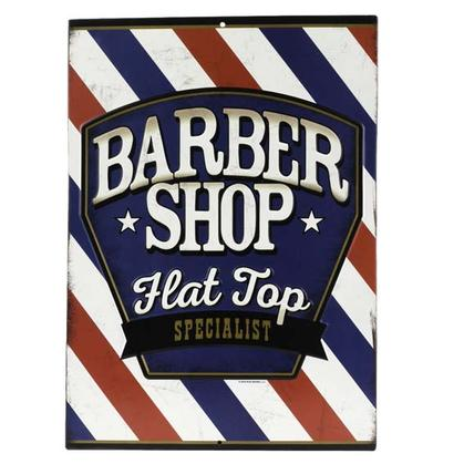 BARBER SHOP EMBOSSED TIN SIGN (10