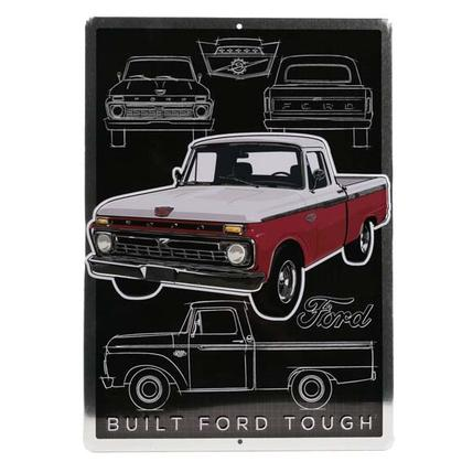 FORD EMBOSSED TIN SIGN (10